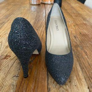 Ellen Tracy Black Sparkly Heels